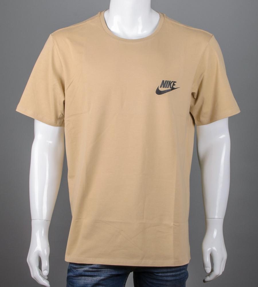 Футболка мужская 3XL, 4XL большие размеры батал оптом Nike (2109б), Песочный