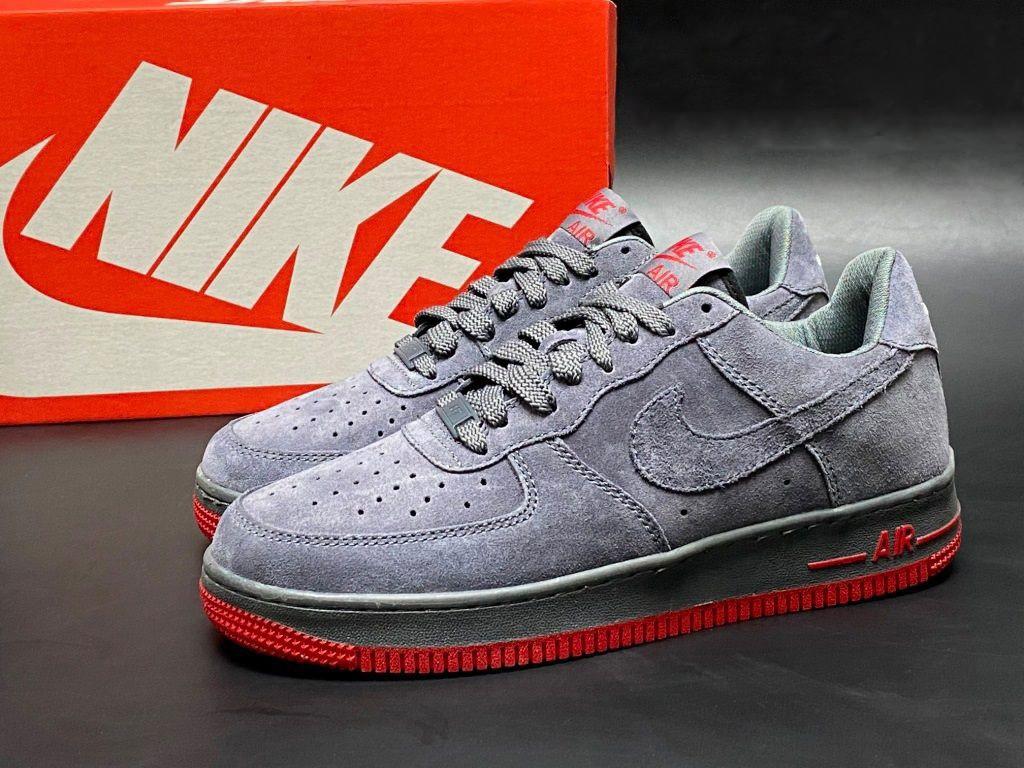 Чоловічі кросівки Nike Air Force Af 1, сірі / кросівки Найк Аір Форс (Топ репліка ААА+)