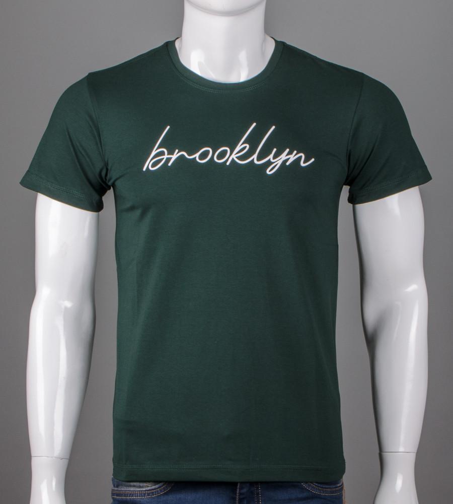 Футболка мужская Brooklyn (5102м), Т.Зеленый