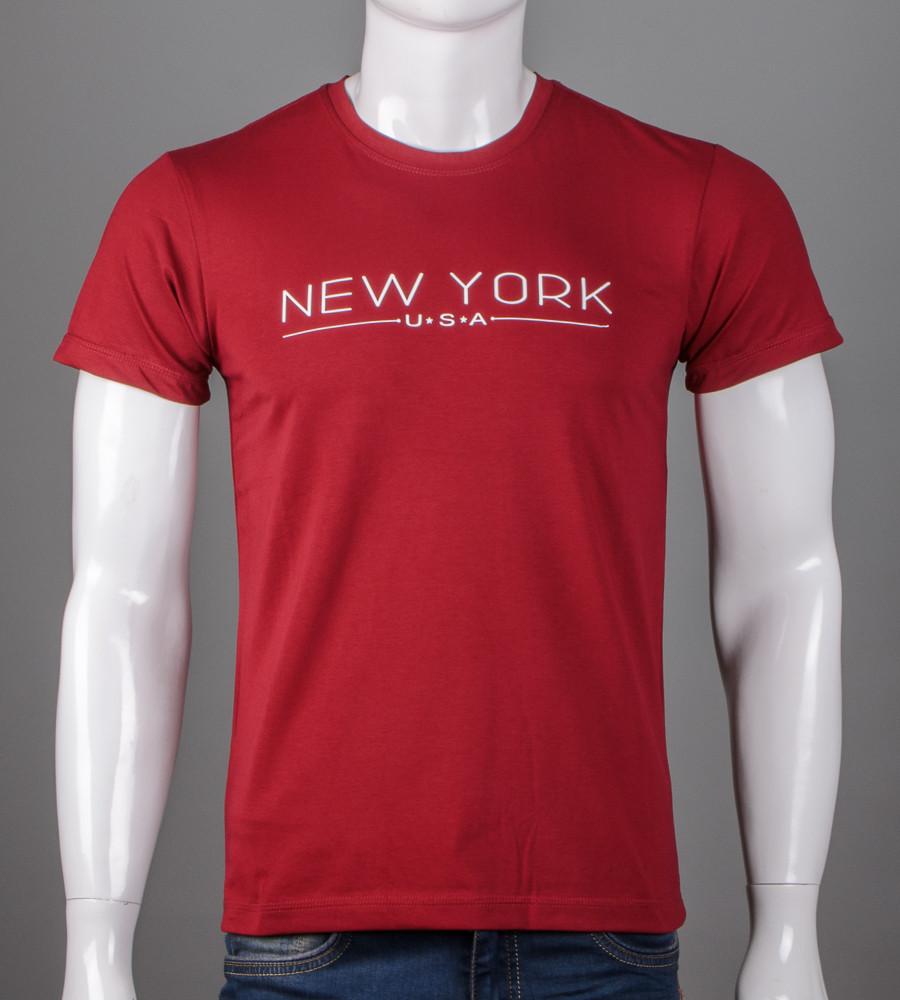 Футболка мужская NewYork (5101м), Бордовый