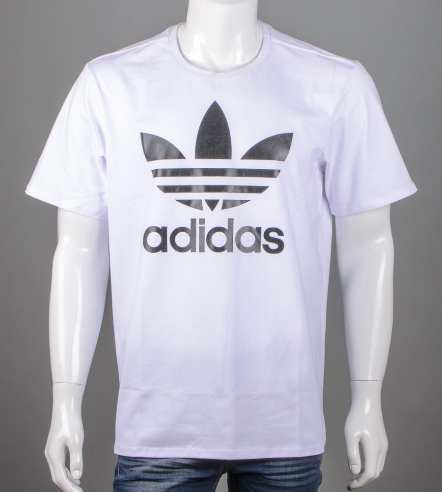 Футболка мужская 3XL, 4XL большие размеры батал оптом Adidas (2112б), Белый