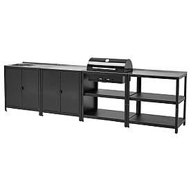 IKEA GRILLSKÄR  Кухонная мойка / угольный гриль, нержавеющая сталь (093.855.26)