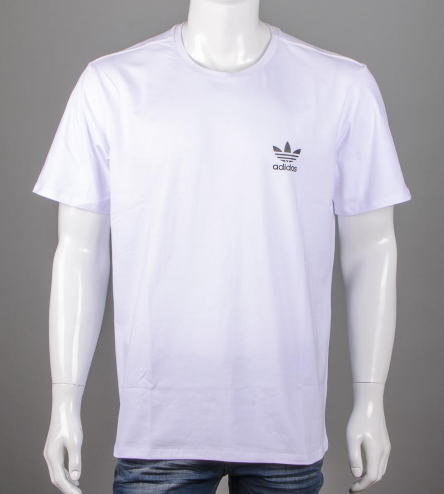 Футболка чоловіча батал Adidas (2111б), Білий