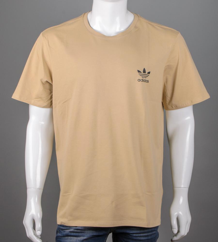 Футболка чоловіча батал Adidas (2111б), Пісочний
