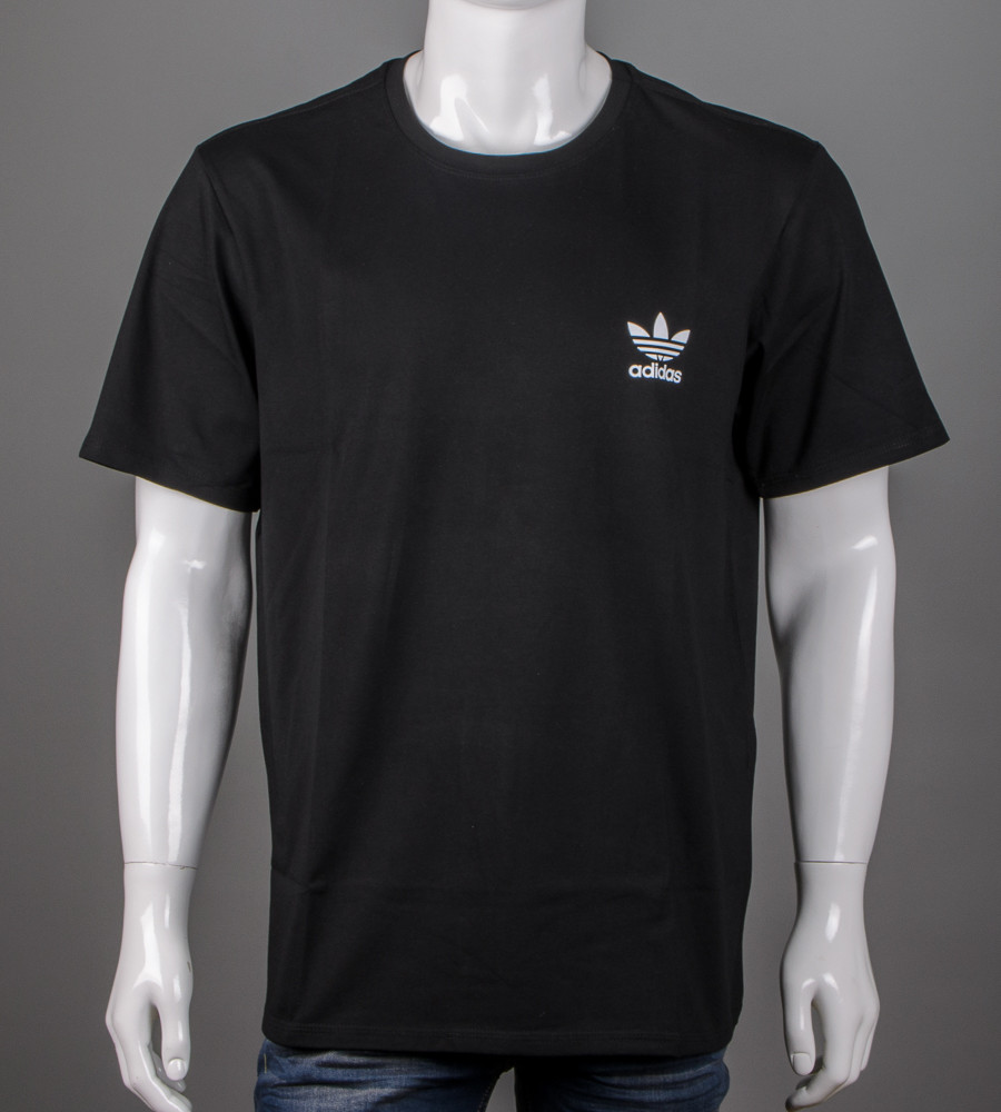 Футболка чоловіча батал Adidas (2111б), Чорний