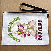 Косметичка (пенал) с принтом. Подарок бабушке. Косметички с надписями, Вашим фото или логотипом