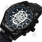 Мужские механические наручные часы в стиле Winner Skeleton Luxury Black