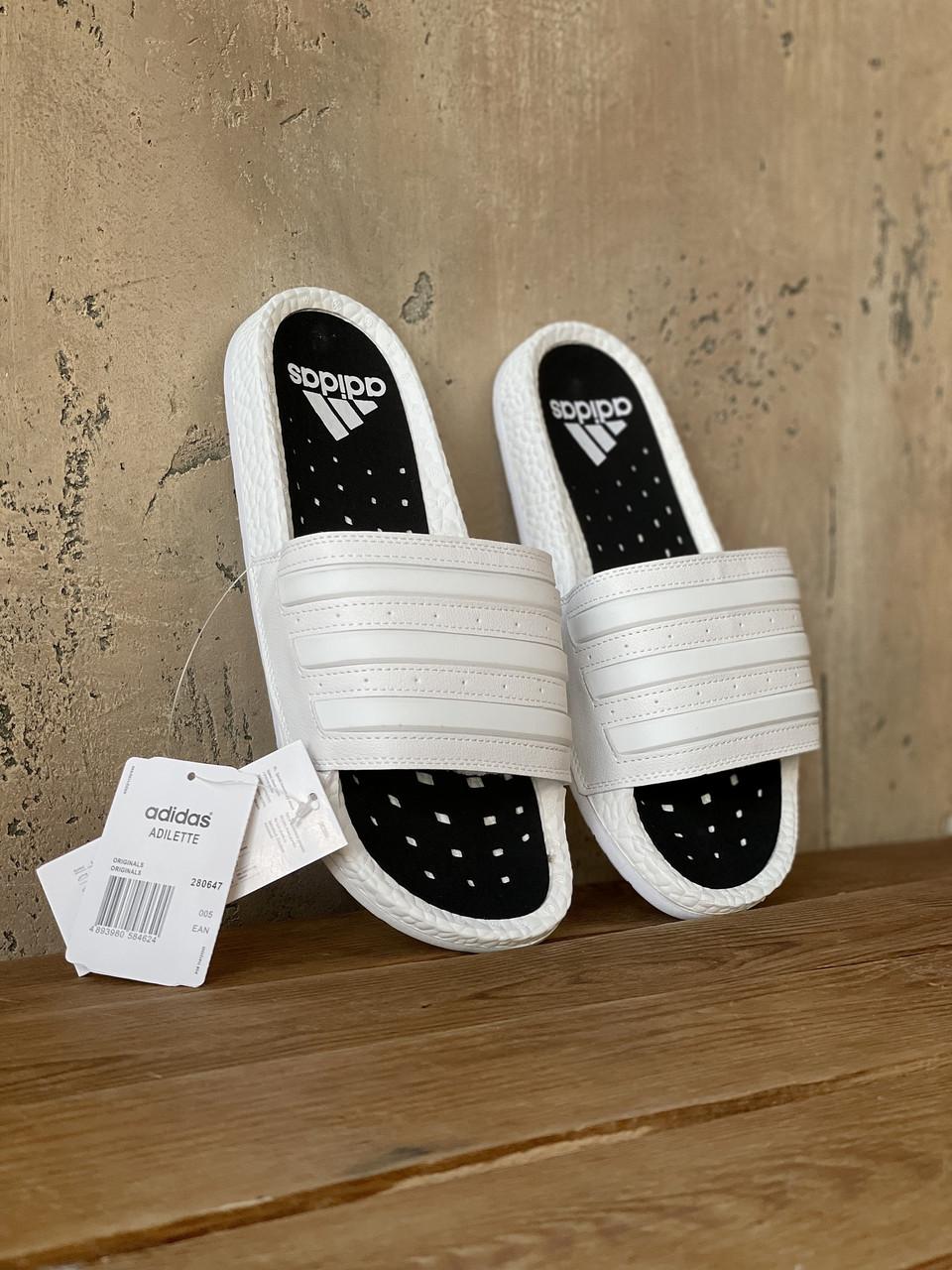 Мужские белые сланцы Adidas