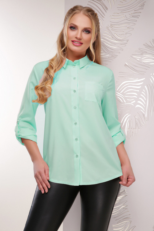 Жіноча батальна блуза м'ятна 52