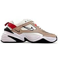 Мужские / женские кроссовки Nike M2K Tekno White Beige, разноцветные кожаные кроссовки найк м2к текно