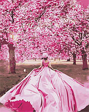 Картина по номерам Девушка в саду, 40х50 ArtStory (AS0899)