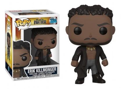 Фигурка Funko Pop Фанко Поп Эрик Килмонгер Черная Пантера Erik Killmonger Black Panther 10 см BP EK 386