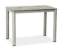 Стол обеденный, стеклянный, Signal Мебель Damar 100 x 60 см (DAMARSZ), Серый