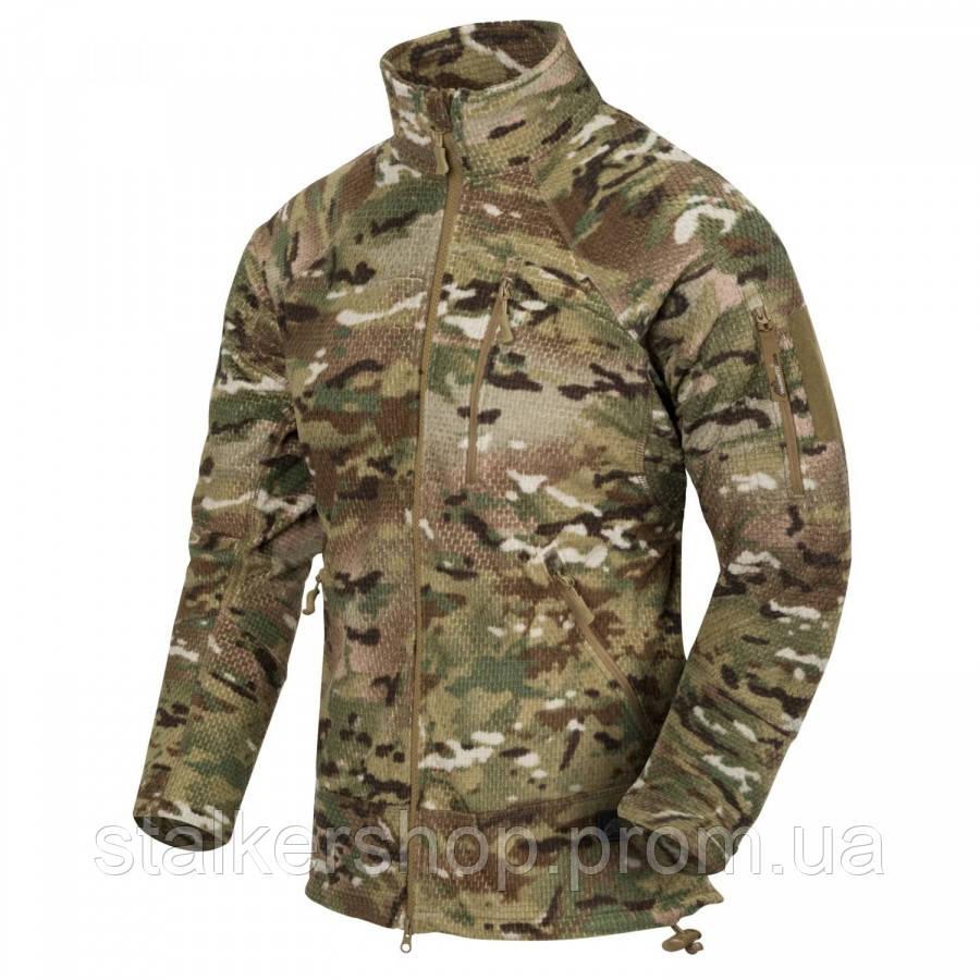 Флісова кофта ALPHA Tactical - Grid Fleece камуфляж MultiCam, Helikon-Tex