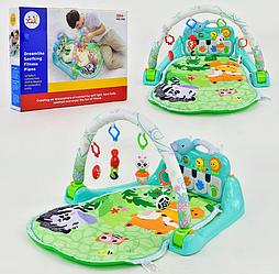 Розвиваючий килимок для немовляти з іграшками і піаніно 1102