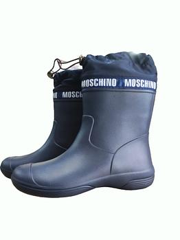 Гумові чоботи з манжетою з піни, сині чоботи на сльоту і дощ