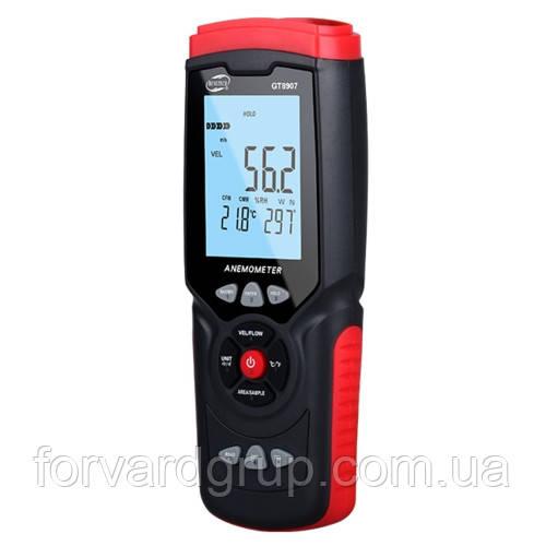Анемометр USB, 0,3-45м/с, 0-45°C, 10-90%  BENETECH GT8907