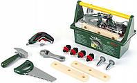 Ігровий набір для хлопчиків Ящик для інструментів Bosch з 15 елементами, шуруповертом та дощечками, Klein