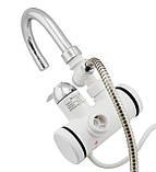 Проточний нагрівач води для душу В стіну,водяний кран душ,бойлер,змішувач, фото 3