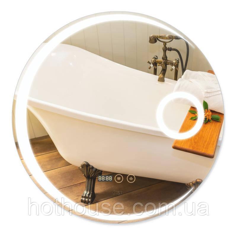 Дзеркало Qtap Mideya з антизапотеванием (DC-F804) 600х600 QT2078F804W