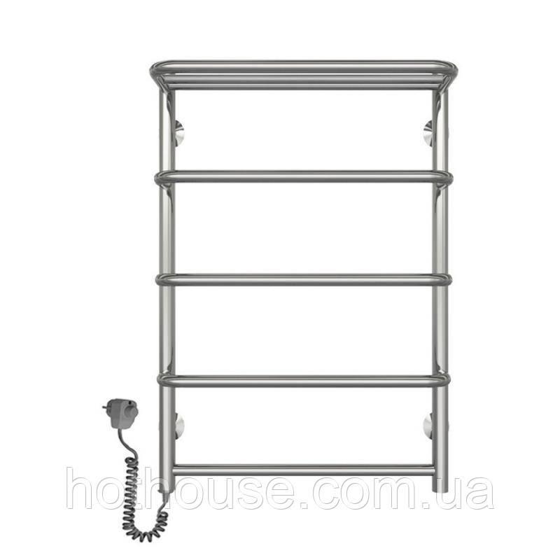 Полотенцесушитель електричний Lidz Standard shelf (CRM) P5 500x700 LE з полицею
