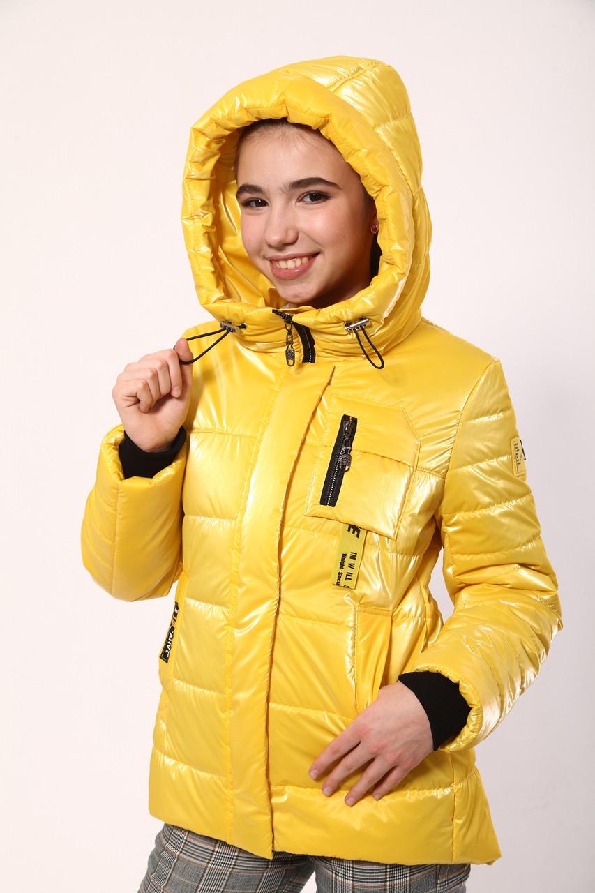 Куртка для дівчинки ріст 134-158 жовтий