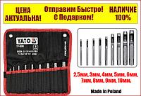 Набор пробойников просечки для кожи 2.5-10 мм 9 шт Yato YT-3590
