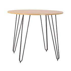 Стол обеденный круглый Aller H18 каркас anthracite, столешница ДСП Бук Артизан Ø90 (Новый Стиль ТМ)