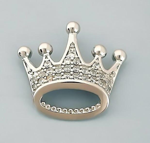 Кулон фірми Xuping. Колір: срібний .Камені: білий циркон/ Діаметр кулона: 1,8 див. без вушка.