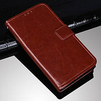 Чехол Fiji Leather для Doogee S68 Pro книжка с визитницей темно-коричневый