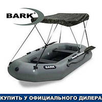 Тент для надувной гребной лодки Барк Б-250. Ходовой тент на лодку Bark B-250;