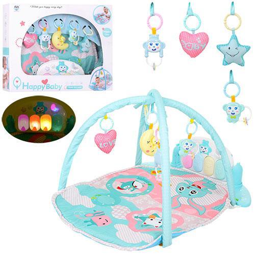 Для самых маленьких и подрастающих карапузов большой коврик для младенца с игрушками и пианином 698-57   РАСПР