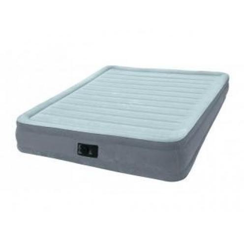 Надувная кровать-матрас Intex Comfort-Plush Mid Rise Queen 67770 L встроеный электро насос РАСПРОДАЖА!