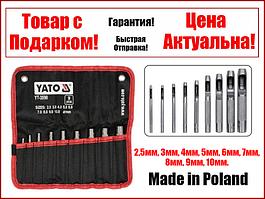 Набір пробійників просічки для шкіри 2.5-10 мм 9 шт Yato YT-3590