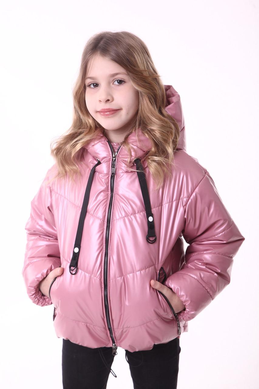 Куртка-зефирка на девочку 134-158 пудра