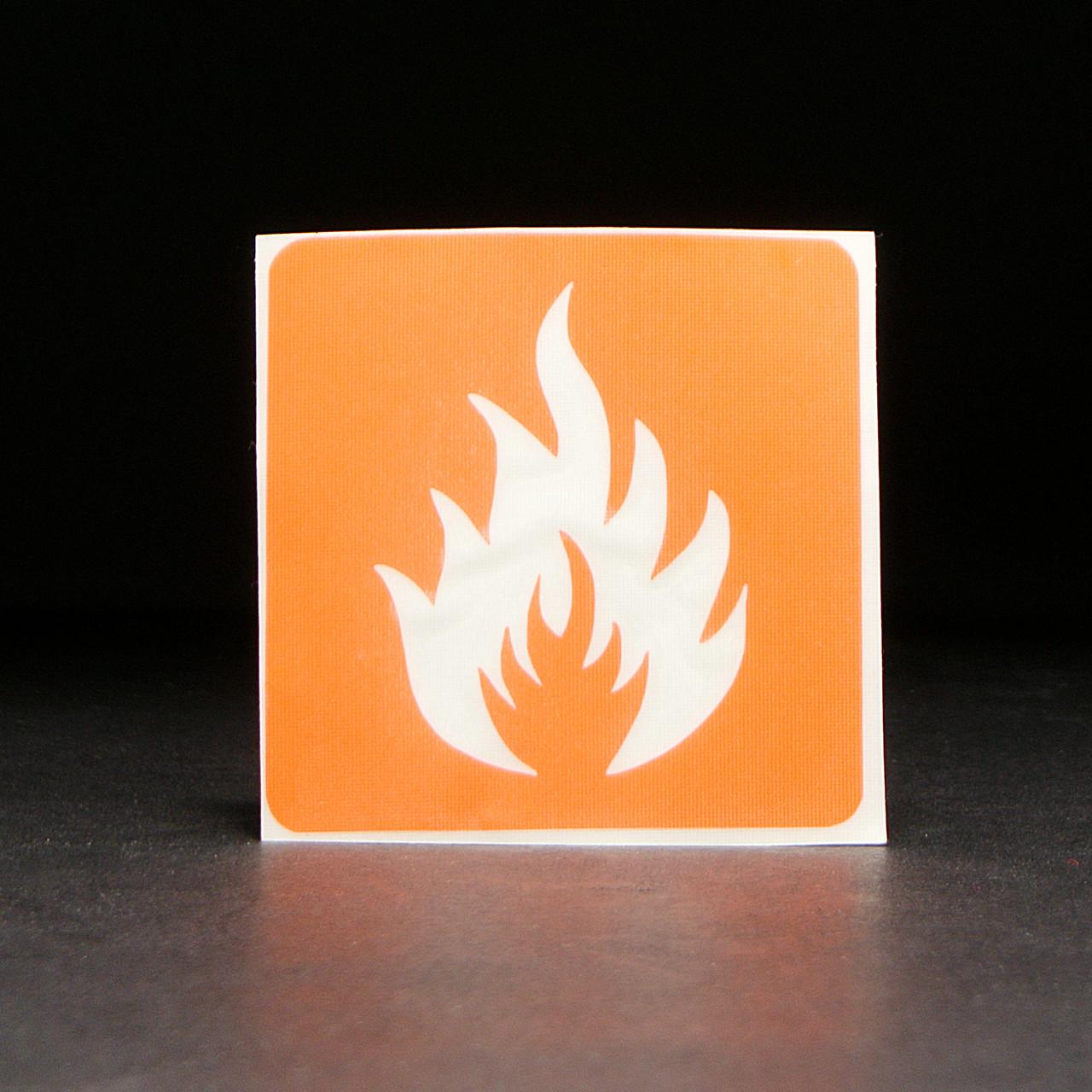 Трафарет для мехенди (рисунков хной на теле) Огонь 6 см