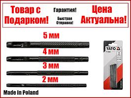 Набір пробійників просічки для шкіри 2 мм, 3 мм, 4 мм, 5 мм, 4 шт Yato YT-35880