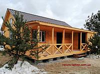 Дачний будиночок 9м х 6м з блокхаус з террассой, фото 1