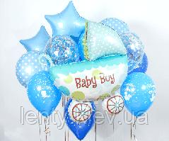 """Готовый набор шаров с гелием №3 """"Baby Boy"""""""
