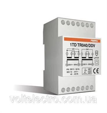 Понижающий трансформатор 230/12х2 40Вт TDTR040 на DIN-рейку