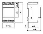 Понижающий трансформатор 230/12х2 40Вт TDTR040 на DIN-рейку, фото 4