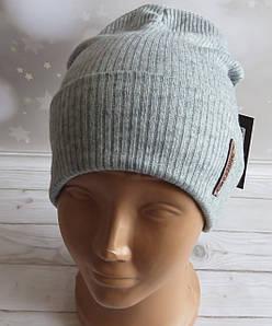 Подростковая весенняя шапка с ангорой Nord серая