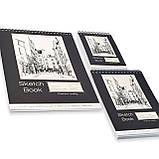 Альбом для скетчинга і малювання А5 250 г\м2, 50 аркушів, альбом на спіралі з Видеообзором !, фото 2