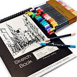 Альбом для скетчинга і малювання А5 250 г\м2, 50 аркушів, альбом на спіралі з Видеообзором !, фото 7