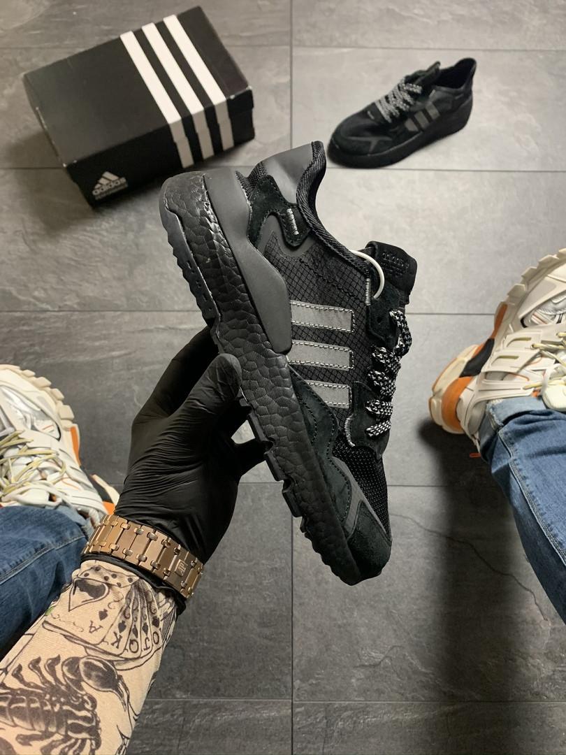 Ad!id@s, крос, обувь, взуття, sneakers, шузы, Nite Jogger Black (Черный)
