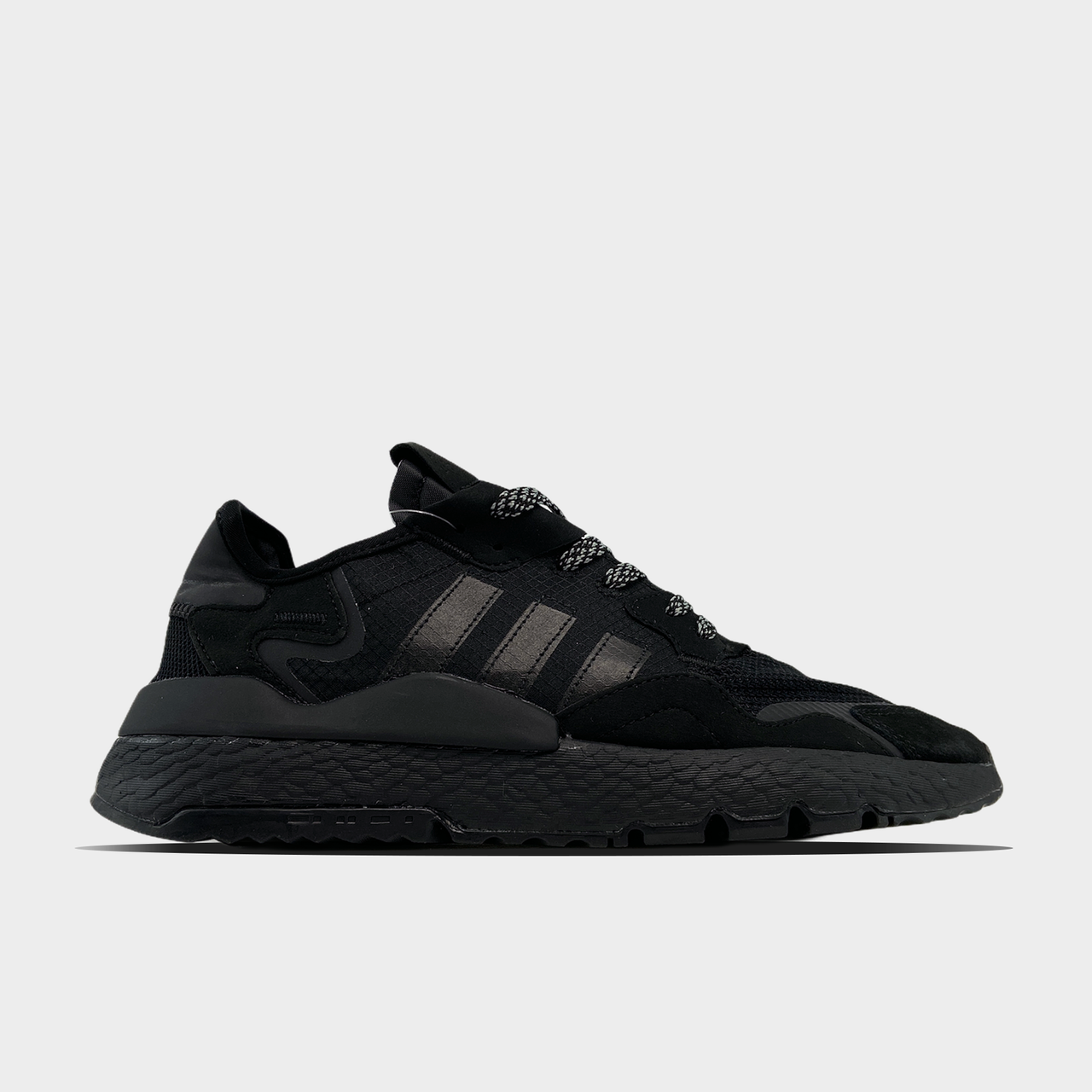 Ad!id@s, крос, обувь, взуття, sneakers, шузы, Nite Jogger Triple Black (Черный)