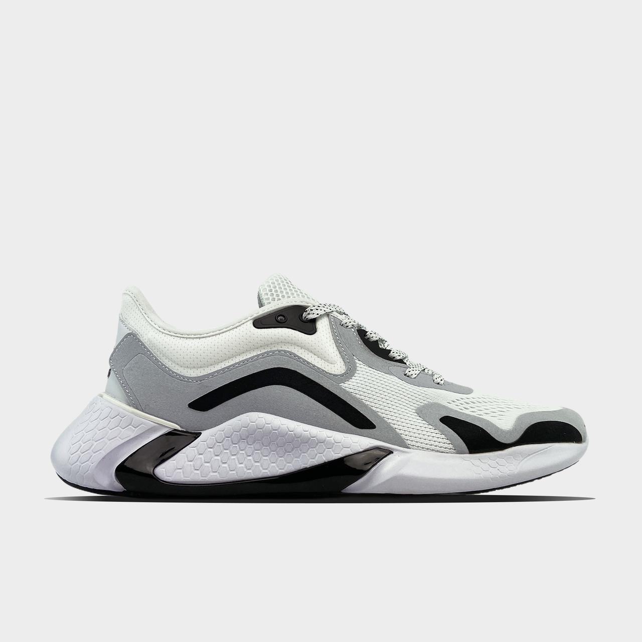 Ad!id@s, крос, обувь, взуття, sneakers, шузы, Alphabounce Instinct White Grey (Белый)