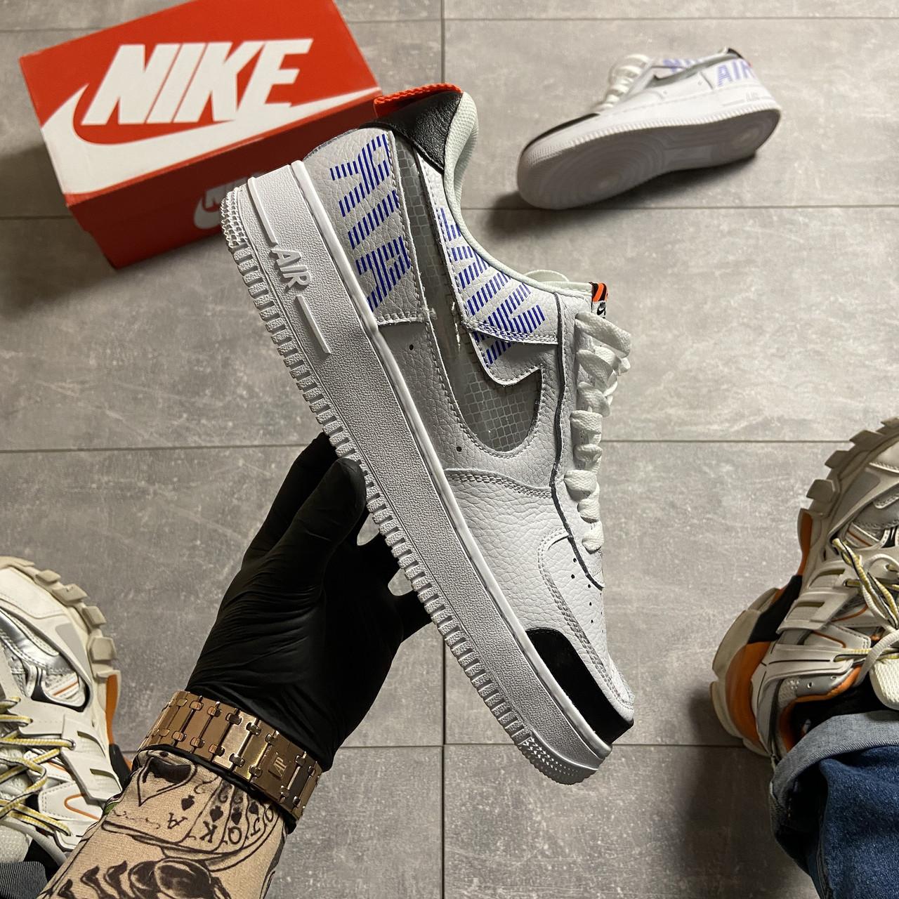 Nk, крос, обувь, взуття, sneakers, шузы, Air Force 1 Low Under Construction White (Белый)
