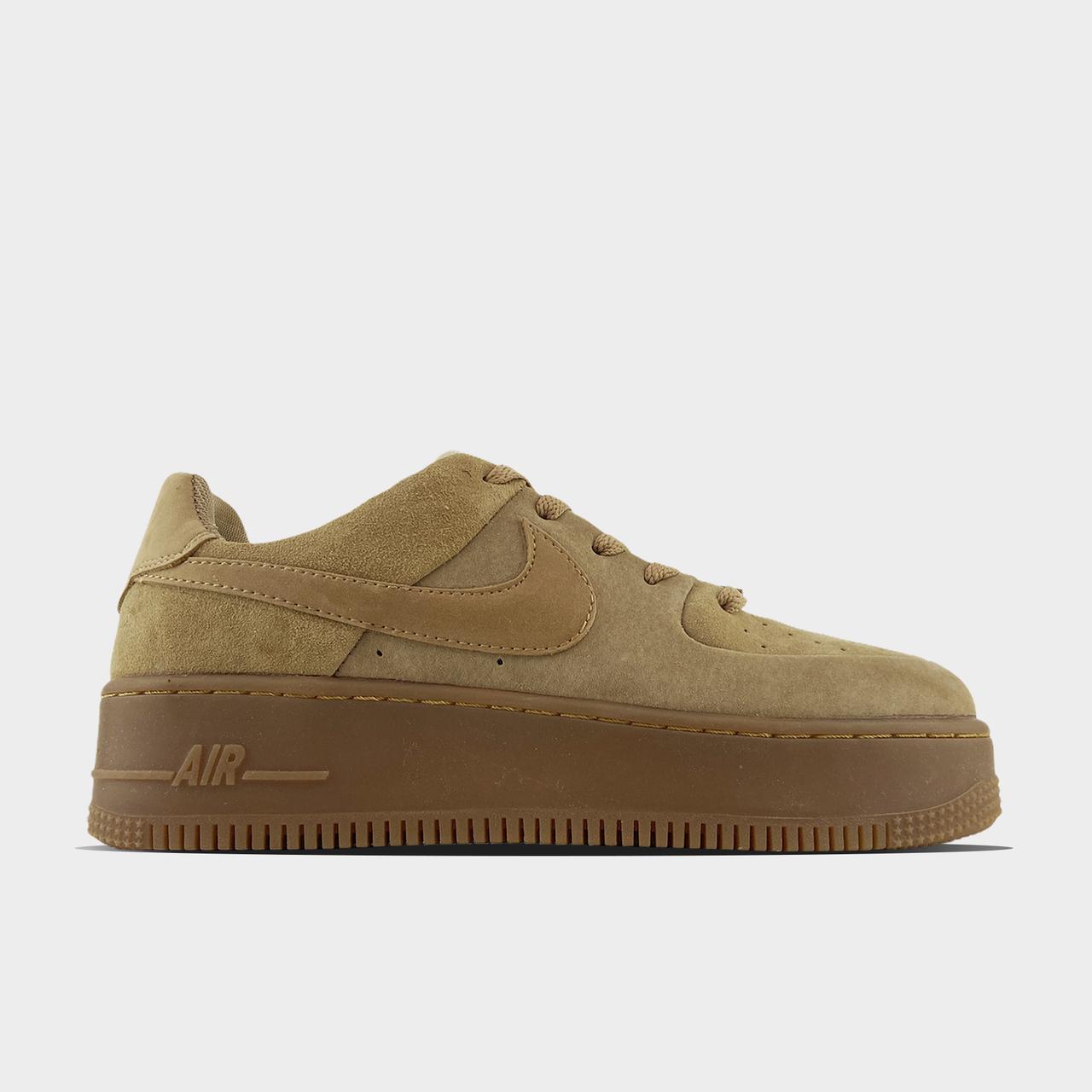 Nk, крос, обувь, взуття, sneakers, шузы, Air Force 1 Sage Low Club Gold (Коричневый)37,38,39
