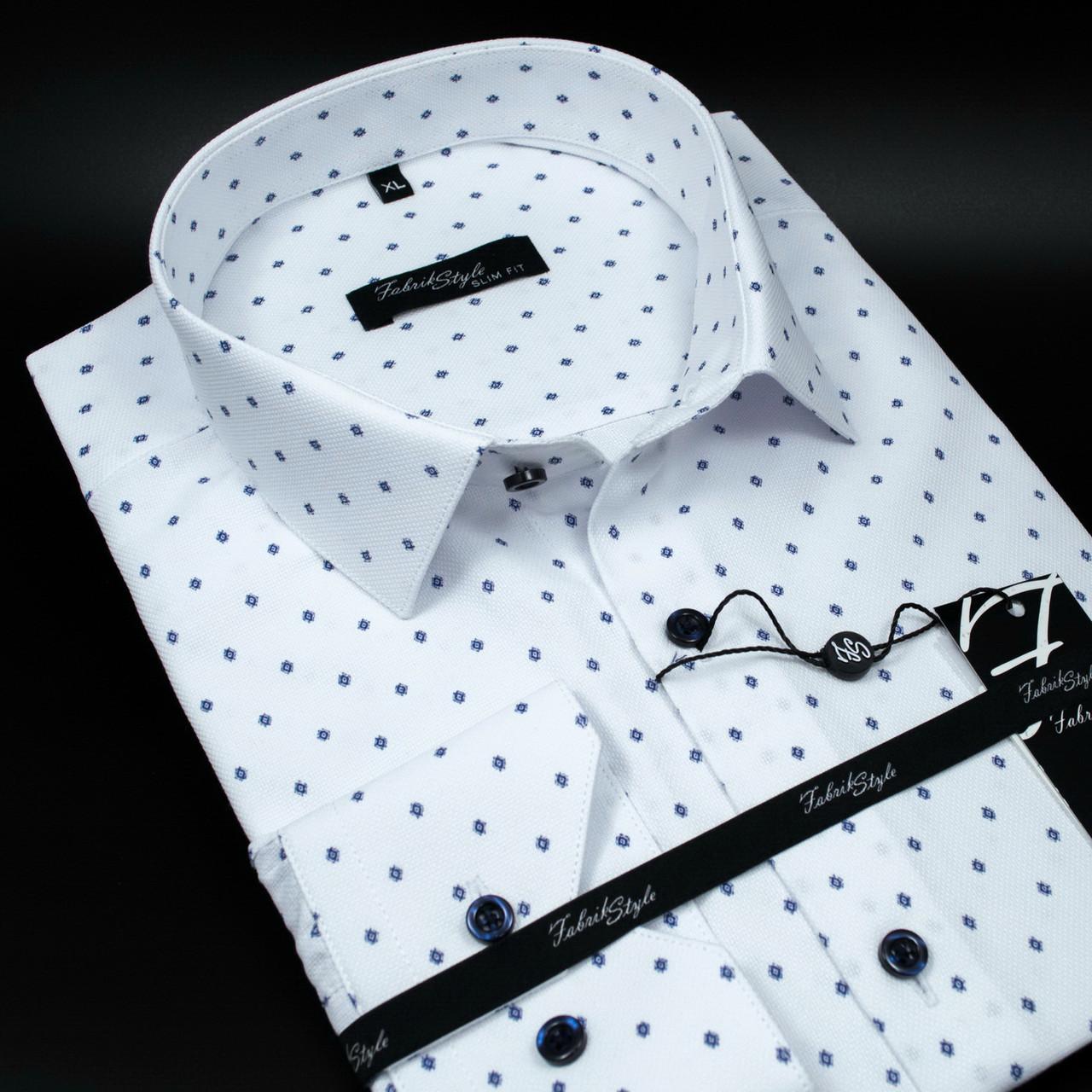 Сорочка чоловіча, приталена (Slim Fit), з довгим рукавом Fabrik Style 5368 100% бавовна 4XL(Р)